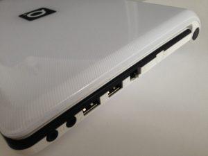 Das Q10air Netbook bietet zahlreiche Anschlüsse