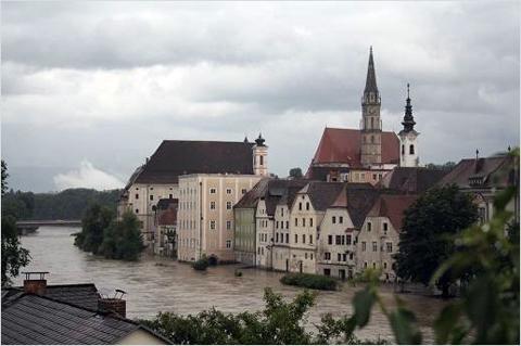 Steyr - Regelmäßig überflutet die Enns Teile der Altstadt