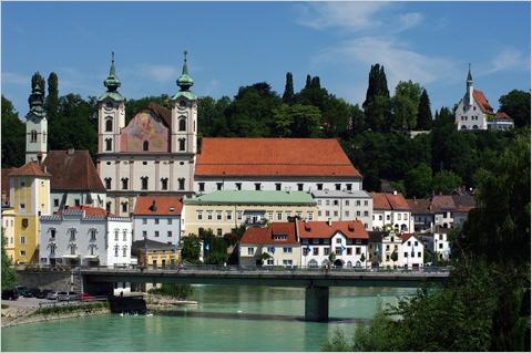 Steyr - Zwischenbrücken mit der Michaelerkirche