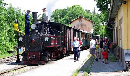 Die mit Dampf betriebene Steyrtal-Museumsbahn