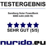 Sandberg Solar PowerBank 6000 mAh im Test