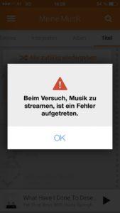 Fehlermeldungen stören den Unterbrechungsfreichen Musikgenuss bei Google Play Music im Offline-Betrieb.