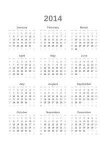 Wer keinen kaufen möchte, kann sich einen Ausdrucken: Der Kalender für 2014