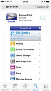 Gesteuert wird der Drucker zum Beispiel über die iPrint-App für iOS und Android