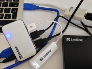 Mit passendem Zubehör für die USB- und Thunderbolt-Schnittstelle erweitert man die Möglichkeiten eines MacBooks enorm