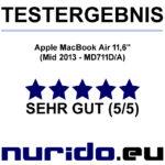 Testurteil Apple MacBook Air 11.6 Inch - Mid 2013 - MD711DA