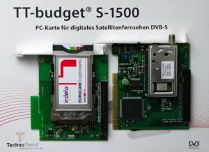 Die TechnoTrend TT-budget S-1500 DVB-S Karte inklusive CI-Modul