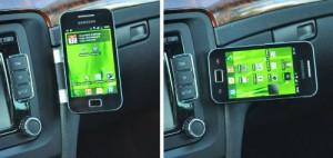 EasyMount steht für eine einfache und stabile Fixierung des Smartphones im Auto