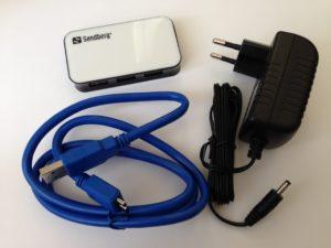 Der Sandberg USB 3.0 Hub 4 Ports (Artikelnr. 133-72)