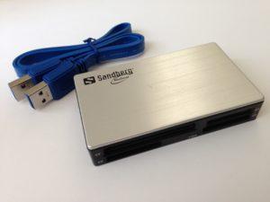 Der Sandberg USB 3.0 Multi Card Reader (Artikelnr.: 133-73)