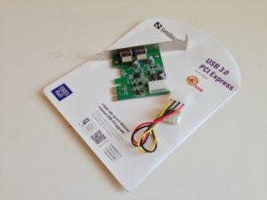 Die USB 3.0 PCI-E Karte von Sandberg
