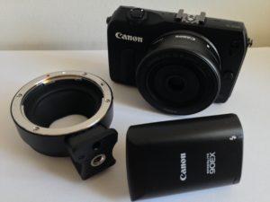 Das Zubehör zur Canon EOS M ist überschaubar