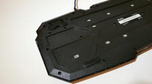 Die verstärkte Unterseite der Sandberg Thunderstorm Tastatur